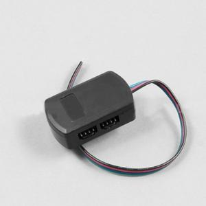 LED razdelilec s kablom, četvorni, 4x0,5, 0,25m, črn