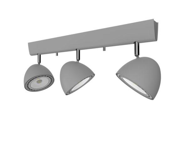 Notranja svetilka stropna, VESPA SILVER III, Nowodvorski, 3x, GU10, srebrna