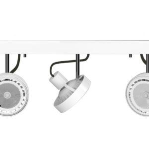 Notranja svetilka stropna, CROSS WHITE III, Nowodvorski, 3x 15W, GU10, bela