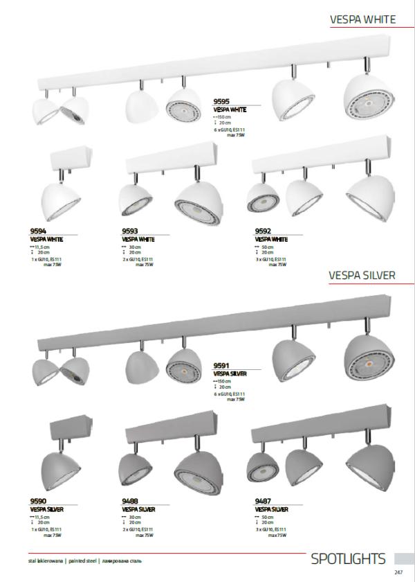 Notranja svetilka stropna, VESPA WHITE/SILVER, Nowodvorski, GU10, bela/srebrna