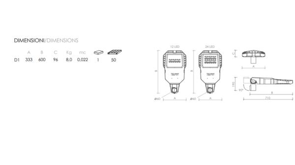 LED svetilka , ulična, TEC-MAR LED, mod/U0