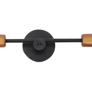 Notranja stropna dekorativna svetilka, Sticks black V, 60W, 2xE27, IP20, 230V