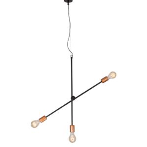 Notranja stropna dekorativna svetilka, Sticks gold III, 60W, 3xE27, IP20, 230V