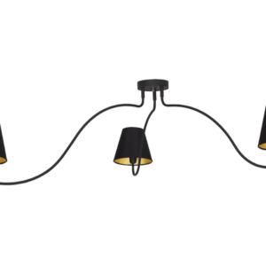 LED Notranja stropna, SWIVEL BLACK, 40W, 3xE14, IP20