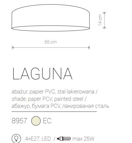 LED Notranja Stropna, LAGUNA M , 25W, 4xE27, IP20