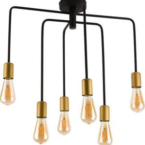 Notranja stropna dekorativna svetilka, Axis black V, 60W, 1xE27, IP20, 230V