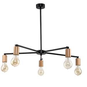 Notranja stropna dekorativna svetilka, Sticks gold V, 60W, 5xE27, IP20, 230V