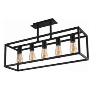 Notranja stropna dekorativna svetilka, Crate V, 60W, 5xE27, IP20, 230V