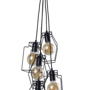 Notranja stropna dekorativna svetilka, FIORD V ZWIS, 60W, 5xE27, IP20, 230V