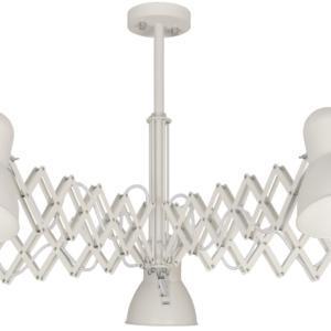 Notranja stropna dekorativna svetilka, Harmony white VI, 5xE27, 60W, IP20, 230V