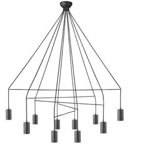 Notranja stropna dekorativna svetilka, Imbria Black X, 35W, 10xG10, IP20, 230V