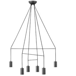 Notranja stropna dekorativna svetilka, Imbria black VI, 35W, 6xG10, IP20, 230V