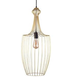 Notranja Stropna dekorativna svetilka, Luksor gold L, 60w-1xe27-ip33-230v