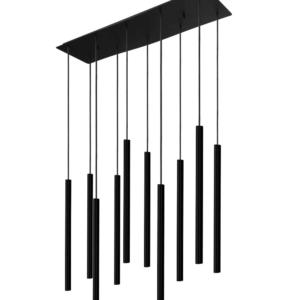 Notranja stropna dekorativna svetilka, Laser black X, 10W, 10xG9, IP20, 230V