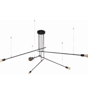 Notranja stropna dekorativna svetilka, Pile V, 60W, 5xE27, IP20, 230V