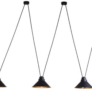 Notranja stropna dekorativna svetilka, Perm III, 60W, 3xE27, IP20, 230V