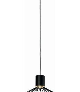Notranja stropna dekorativna svetilka, Pico black I, 35W, 1xE27, IP33, 230V