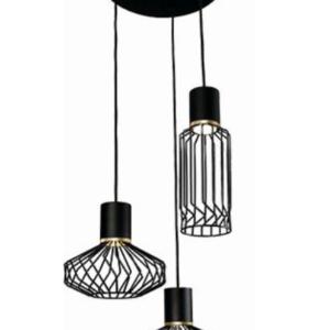 Notranja stropna dekorativna svetilka, Pico black lll, 35W, 3xE27, IP33, 230V