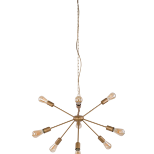 Notranja stropna dekorativna svetilka, ROD Gold XV, 60W, 9xE27, IP20, 230V