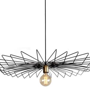 Notranja stropna dekorativna svetilka, Umbrella Black, 60W, 1xE27, IP33, 230V