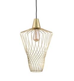 Notranja Stropna dekorativna svetilka, WAVE gold L, 60W, 1xE27, IP33, 230V
