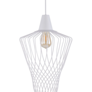 Notranja Stropna dekorativna svetilka, WAVE white L, 60W, 1xE27, IP33, 230V
