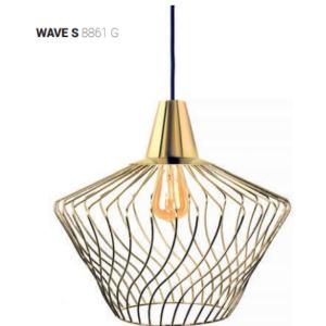 Notranja Stropna dekorativna svetilka, WAVE GOLD S, 1xE27,60W