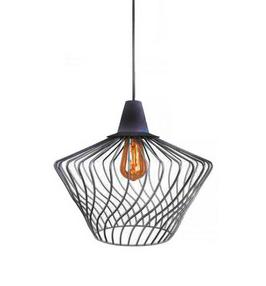 Notranja Stropna dekorativna svetilka, WAVE black S, 1xE27,60W, IP33