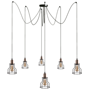 Notranja stropna dekorativna svetilka, Workshop VI, 60W, 6xE27, IP20, 230V