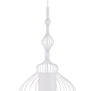 Notranja stropna dekorativna svetilka, ABI M white, 40W, 1xE27, IP33, 230V