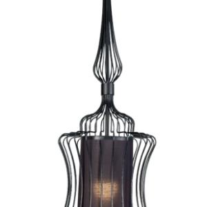 Notranja stropna dekorativna svetilka, ABI S black, 40W, 1xE27, IP33, 230V