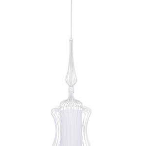 Notranja stropna dekorativna svetilka, ABI S white, 40W, 1xE27, IP33, 230V