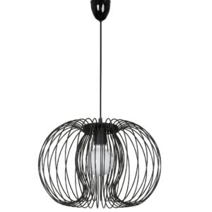 Notranja stropna dekorativna svetilka, Agadir black, 60W, 1xE27, IP20, 230V