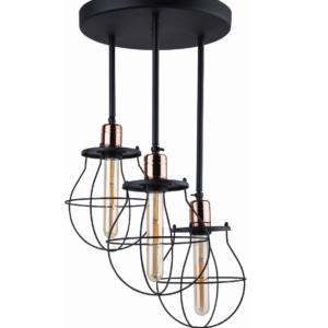 Notranja stropna dekorativna svetilka, Manufacture III, 60W, 3xE27, IP20, 230V