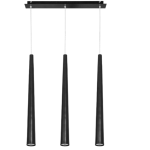 Notranja stropna dekorativna svetilka, Quebeck black III, 35W, 3xG10, IP20, 230V