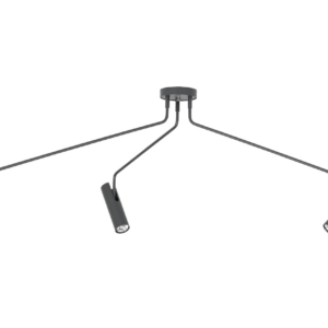 Notranja stropna dekorativna svetilka, Eye super graphite III, 35W, 3xG10, IP20, 230V