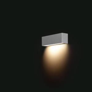 LED Notranja stenska, STRAIGHT LED WALL silver XS, 40W, 1xE14, IP20