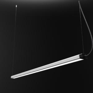 LED Notranja stropna, H LED black, 36W, IP20