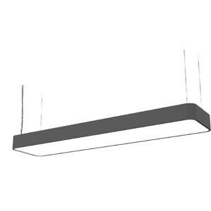 LED Notranja stropna, SOFT LED graphite, 16W, 2xT8 IP20