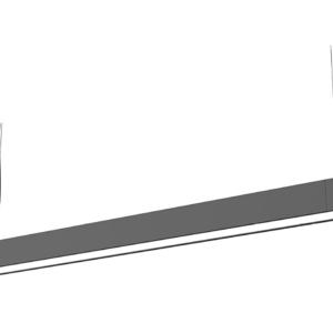 LED Notranja stropna, SOFT LED graphite L, 22W, 1xT8 IP20