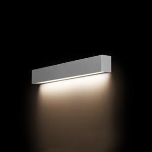 LED Notranja stenska, STRAIGHT LED WALL silver S, 10W, 1xT8, IP20