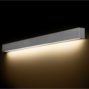 LED Notranja stenska, STRAIGHT LED WALL silver L, 22W, 1xT8, IP20