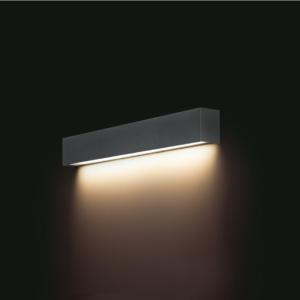 LED Notranja stenska, STRAIGHT LED WALL graphit S, 10W, 1xT8, IP20