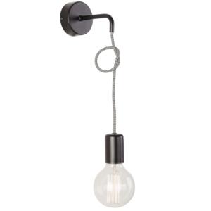 Notranja stenska dekorativna svetilka, Simple black I, 1xE27, 60W, IP20, 230V