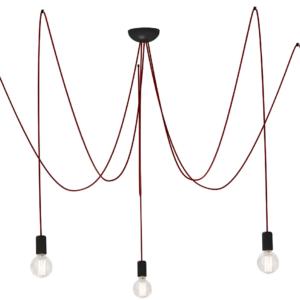 Notranja stropna dekorativna svetilka, Spider red V, 5xE27, 60W, IP20, 230V
