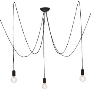 Notranja stropna dekorativna svetilka, Spider grey V, 5xE27, 60W, IP20, 230V