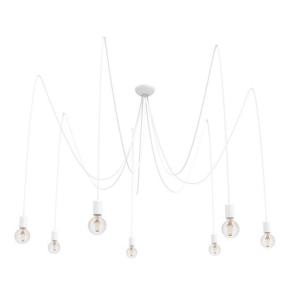Notranja stropna dekorativna svetilka, Spider white VII, 7xE27, 60W, IP20, 230V