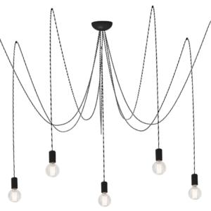 Notranja stropna dekorativna svetilka, Spider grey VII, 7xE27, 60W, IP20, 230V