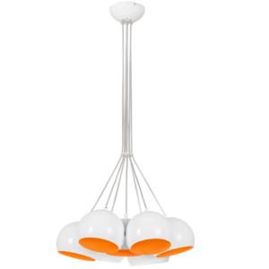 Notranja stropna dekorativna svetilka, Ball white-orange VII, 7xGU10, 35W, IP20, 230V