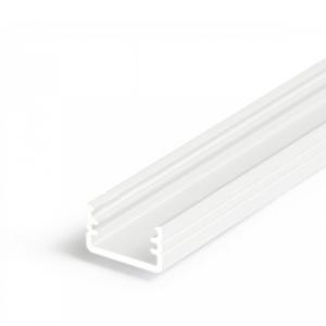 LED profil, SLIM8, A/Z, alu-bel barvan, 2m